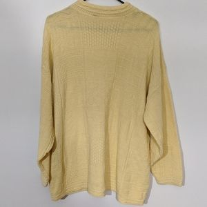 5 FOR $25 DEAL pastel yellow quilted knit sweater